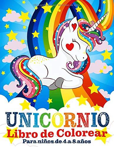 Unicornio Libro de Colorear para Niños de 4 a 8...