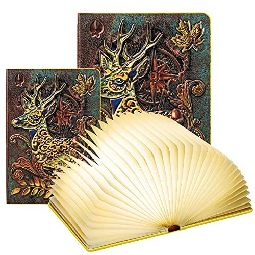 DEVASO Libro Lámpara LED, Luces Plegables de...