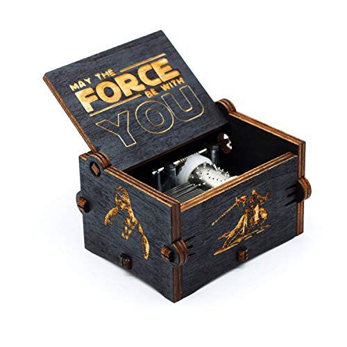 Caja de música de Star Wars de madera negra, caja...