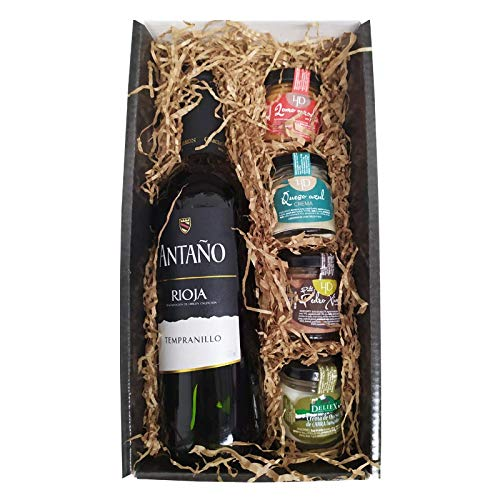 Cesta Gourmet Deliex con Vino Rioja Antaño de...