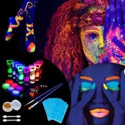 maquillaje fluorescente cuerpo fiesta